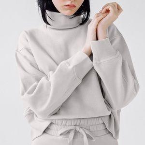 Zara high collar sweatshirt
